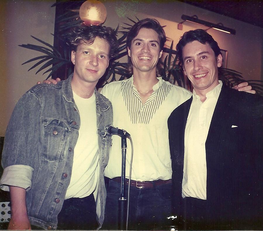 Chris with Glenn Tilbrook & Jules Holland 1989
