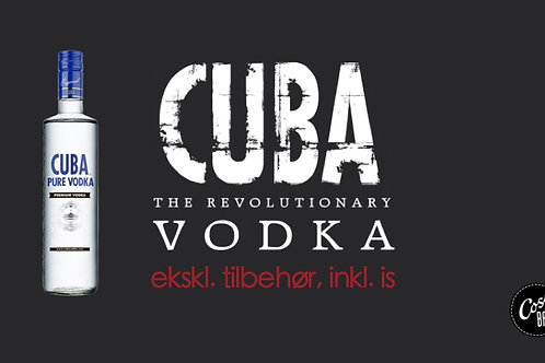 GAVEKORT 1/1 flaske CUBA vodka