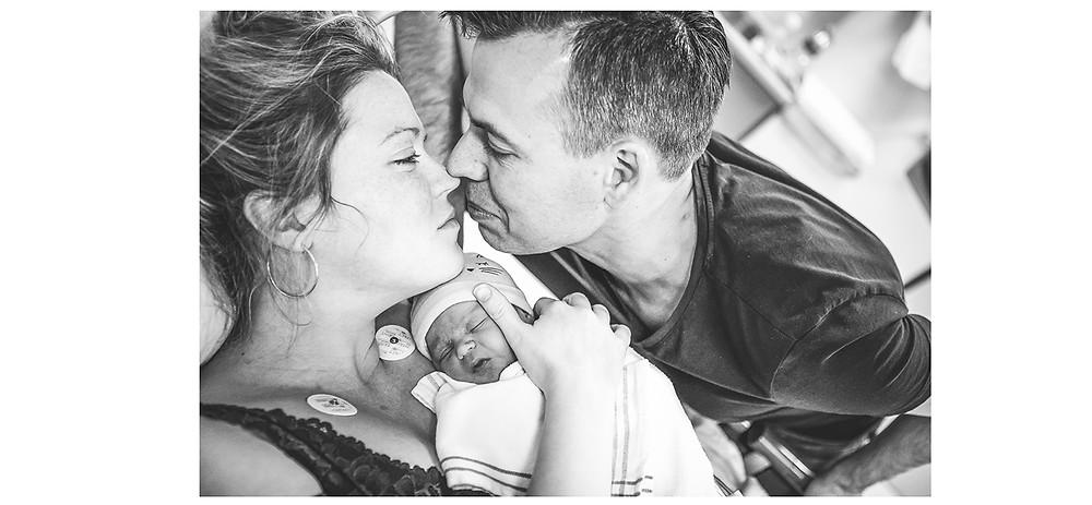 Geboorte fotografie, bevalling, Wilhelmina kinderziekenhuis, baby, weeen, pappa, mamma, keizersnede, sectio, spoed