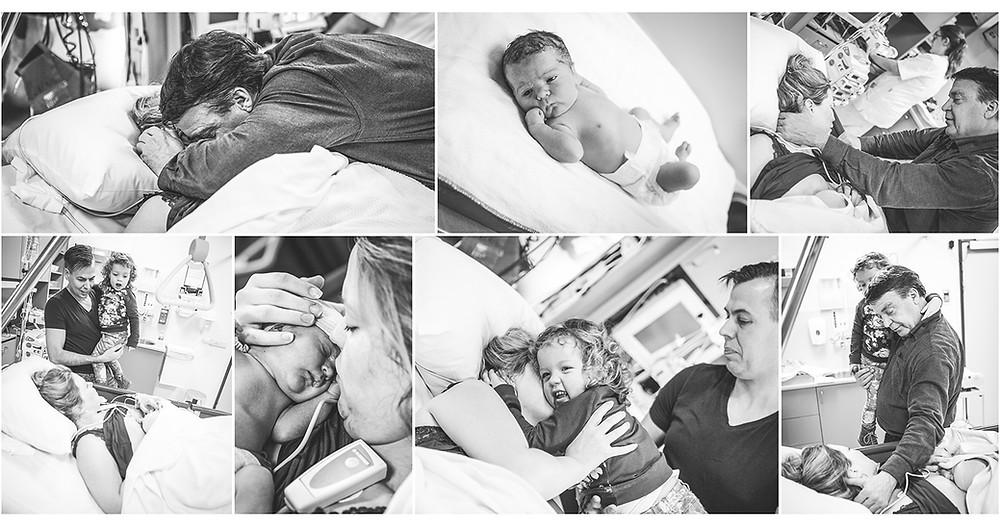 Geboorte fotografie, bevalling, Wilhelmina kinderziekenhuis, baby, weeen, pappa, mamma, keizersnede, sectio, spoed, eerste ontmoeting, grote zus