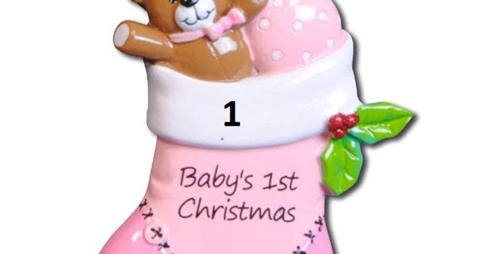 OR796-P - Pink Baby Stocking