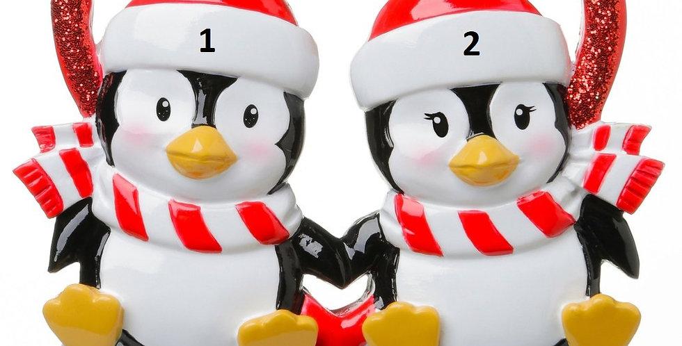 OR1721 - Penguins In Glitter Heart