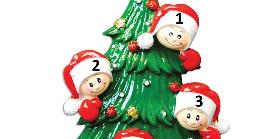 OR827-4 - Christmas Tree with 4 Faces