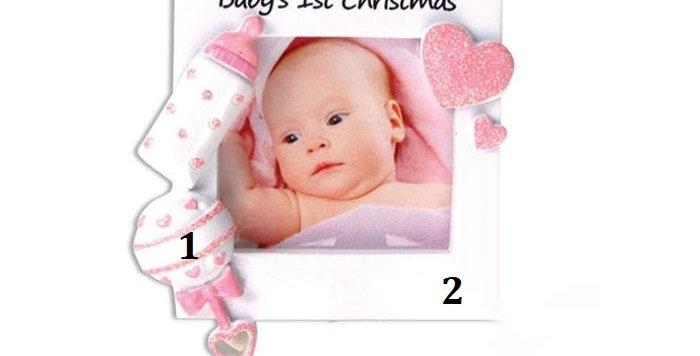 PF600-P - Christmas Baby Frame (Pink)