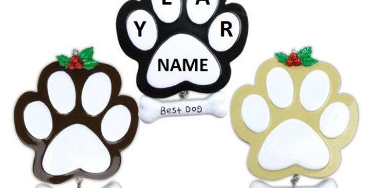 Dog Paw (4 Black, 4 Tan, 4 Brown)
