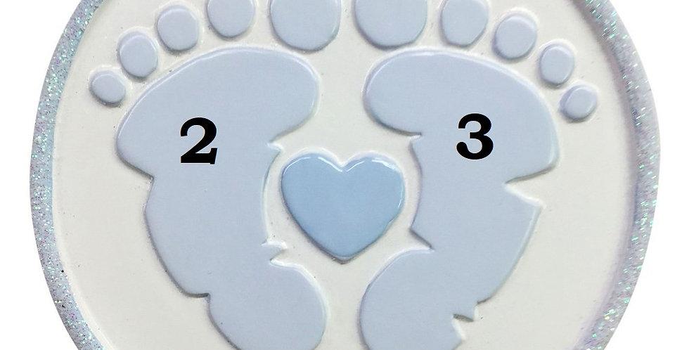 OR1736-B - Foot Prints (Blue)
