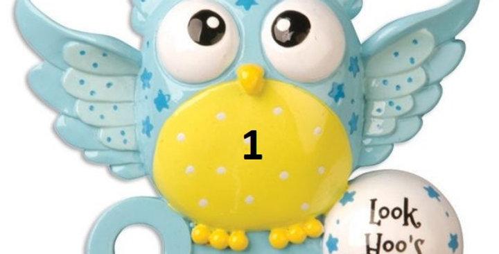 OR879-B Blue Baby Owl