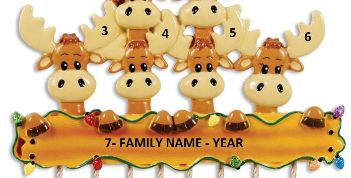 OR1364-6 - Moose Family Of 6