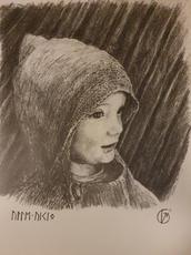 Portræt af lille dreng. Lille Viking. 2019