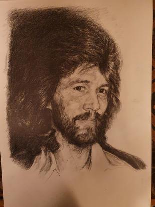 Portræt af Barry Gibb. 2020