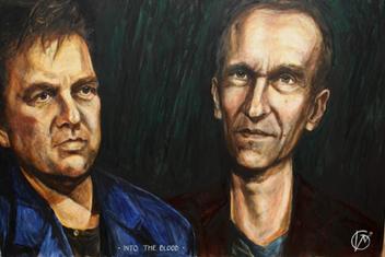 Portræt af Jens og Carsten til musikvideo, Into the Blood 2019