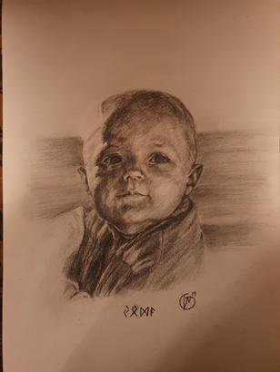 Portræt af lille dreng. Yoda. 2019