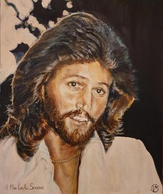 Portræt af Barry Gibb, A Man For All Seasons. 2020