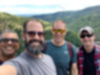 Men hiking in Weston, OR at our last mens event.