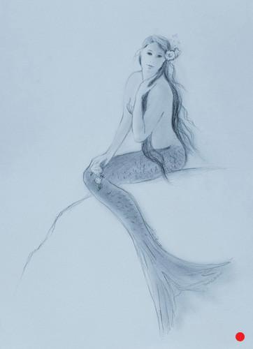 Mermaid Touching Hair