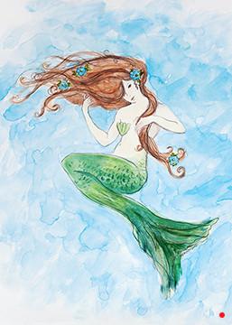 Red Headed Mermaid