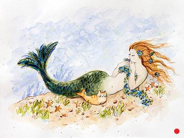 Mermaid Cat Nap