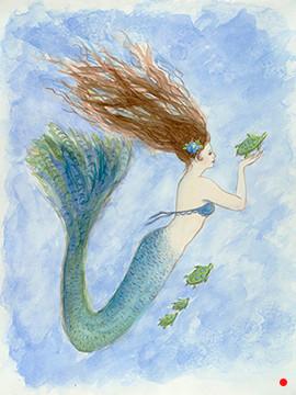 Mermaid and her Sea Turtle