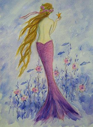 Mermaid in her Sea Garden