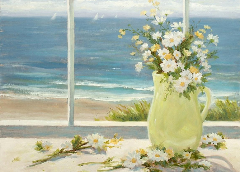 Beach Daisies in YellowVase