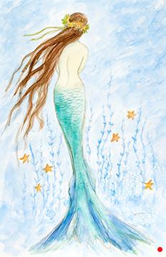 Mermaid in her Starfish Garden