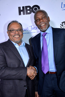 Alfons Adetuyi and Danny Glover - LA screening