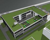 Astyx Campus Immobilien_Modell Ostgebäude Rückansicht