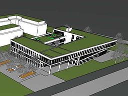 Astyx Campus Immobilien_Modell Ostgebäude Vorderansicht