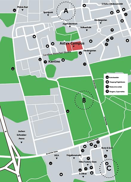Lage Astyx Campus
