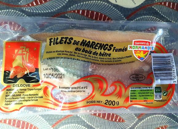 Filets de hareng fumés