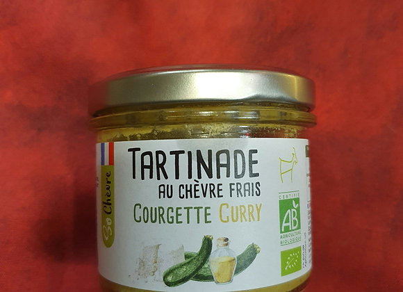 Tartinade courgette curry bio