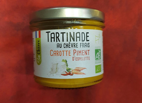 Tartinade carotte piment d'espelette bio