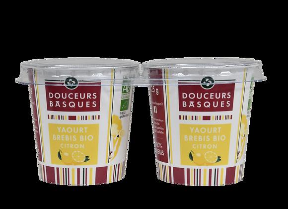 2 yaourts de brebis bio