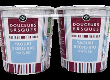 2 yaourts de brebis natures bio