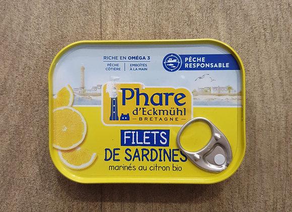 Filets de sardines au citron bio