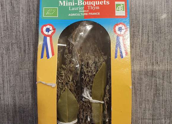 Mini bouquets laurier/thym bio