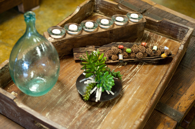 Decorated Wooden Crate