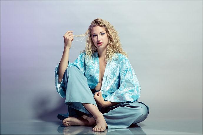 singer songwriter signe models alex rotin's designs
