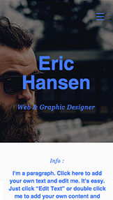 Portfolio & CV website templates – Web & Graphic Designer
