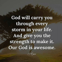 God Will Carry You...