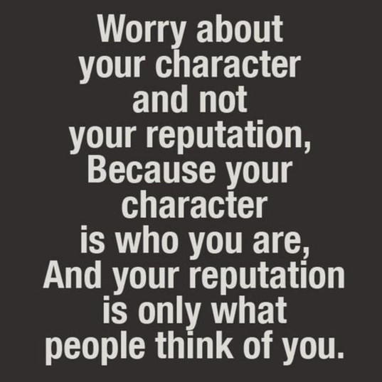 Worry About Your Character...