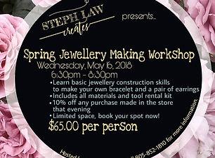 Spring Jewellery Making Workshop