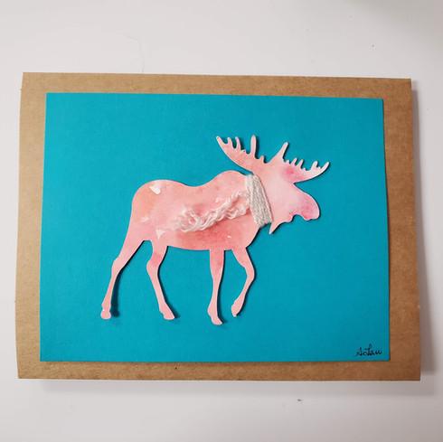 Moose Greeting Card