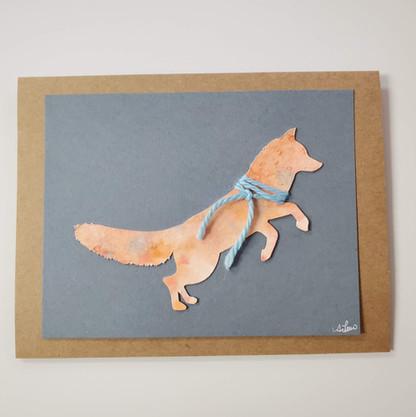 Fox Greeting Card