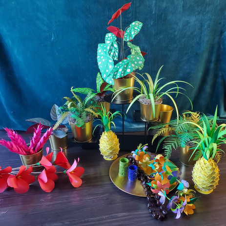 Tropical Paper Window Display
