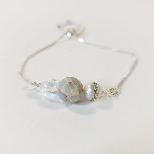 Blue Impression Jasper Adjustable Bracelet