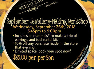 September Jewellery-Making Workshop