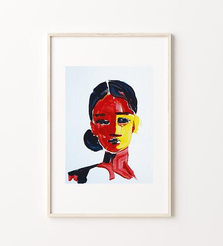 """Poster """"Mujer Colorida No.1"""""""