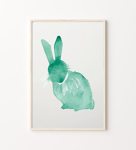 "Poster ""Hase Hugo"""