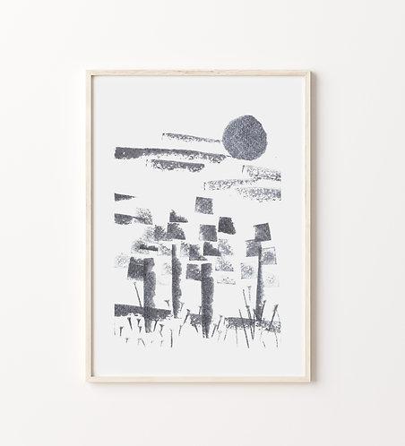"""Poster """"Frühlingsmorgen"""""""